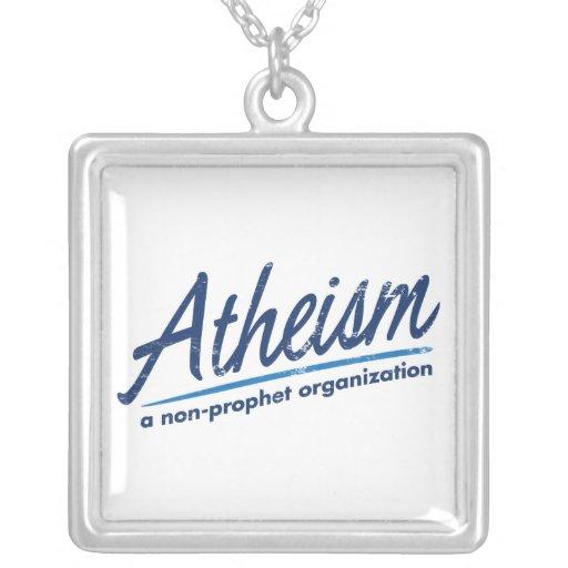 El ateísmo una organización del no-profeta colgante cuadrado