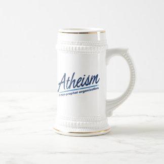 El ateísmo una organización del no-profeta jarra de cerveza