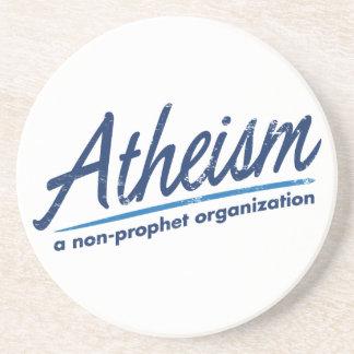 El ateísmo una organización del no-profeta posavaso para bebida