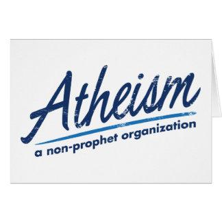 El ateísmo una organización del no-profeta tarjeta de felicitación