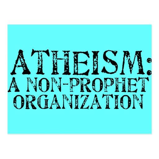 El ateísmo: Una organización del No-Profeta Postales