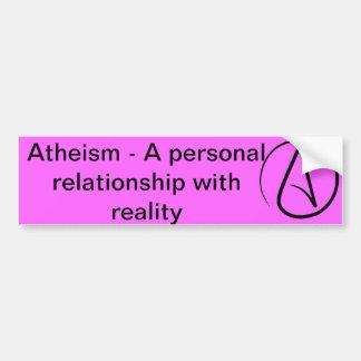 El ateísmo - una relación personal con realidad pegatina de parachoque