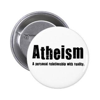 El ateísmo. Una relación personal con realidad Pin Redondo De 2 Pulgadas