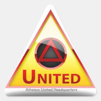 El ateísmo unido establece jefatura del logotipo pegatina triangular