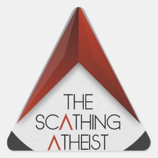 El ateo mordaz pegatina triangular