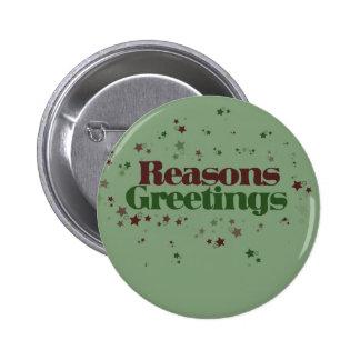 El ateo razona los saludos pin redondo de 2 pulgadas