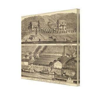 El aterrizaje de Anderson de los trabajos de ladri Impresión En Lienzo