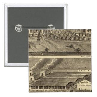 El aterrizaje de Anderson de los trabajos de ladri Pin Cuadrada 5 Cm