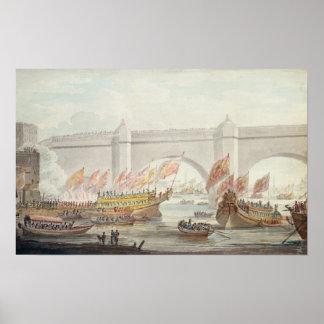 El aterrizaje del señor alcalde en Westminster Poster