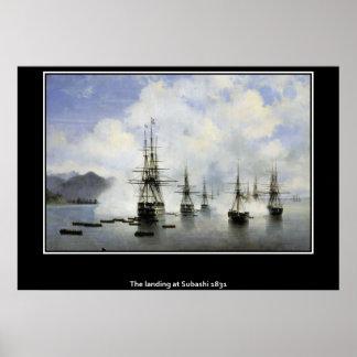 El aterrizaje en el poster 1831 de Subashi el Mar