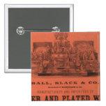 El atlas americano de Colton de la guarnición Pin Cuadrado