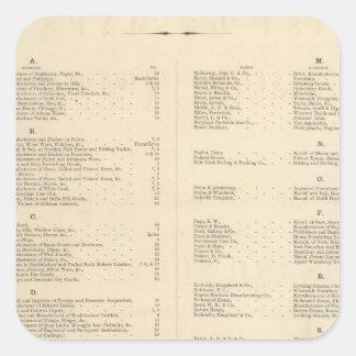 El atlas americano de Colton de la página de Pegatina Cuadrada