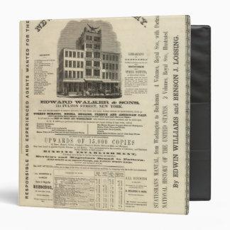 """El atlas americano de Colton del Frontispiece Carpeta 1 1/2"""""""