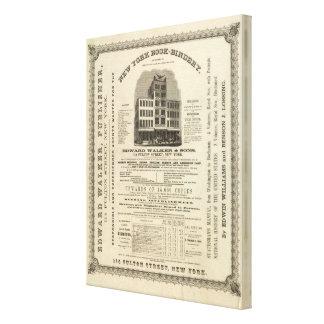 El atlas americano de Colton del Frontispiece Impresión En Lona Estirada