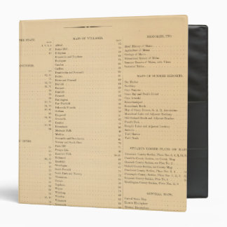"El atlas de Estuardo del estado de Maine Carpeta 1 1/2"""