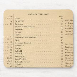 El atlas de Estuardo del estado de Maine Tapete De Raton