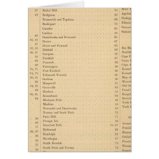 El atlas de Estuardo del estado de Maine Tarjeta De Felicitación