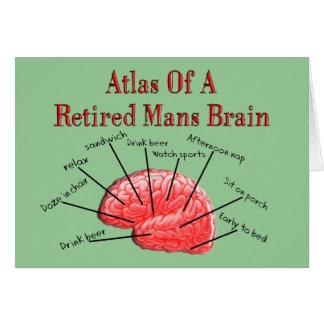 El atlas de retirado sirve el cerebro tarjeta de felicitación