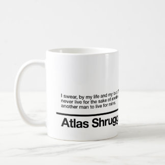 El atlas encogió juramento taza clásica