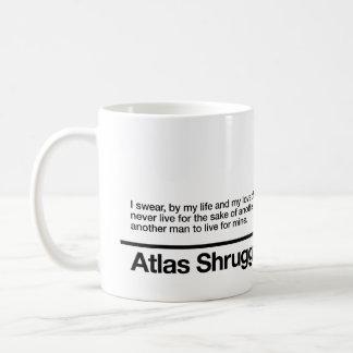 El atlas encogió juramento taza de café