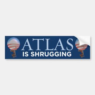 El atlas está encogiendo a la pegatina para el par pegatina para auto
