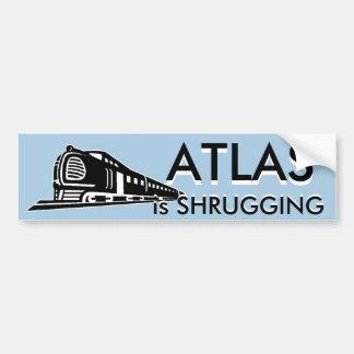 El atlas está encogiendo pegatina para auto