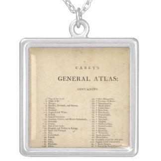 El atlas general de Carey de la página de título Colgante Cuadrado