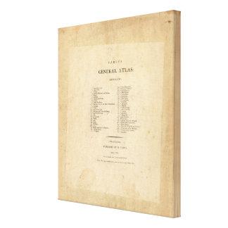 El atlas general de Carey de la página de título Lienzo Envuelto Para Galerias