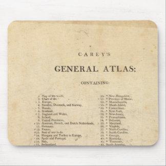 El atlas general de Carey de la página de título Mouse Pads