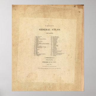 El atlas general de Carey de la página de título Póster