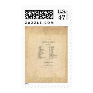 El atlas general de Carey de la página de título Sellos Postales