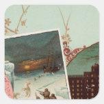 El atlas ilustrado de Arbuckles Pegatina Cuadrada