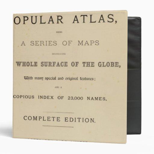 El atlas popular de Letts de la página de título