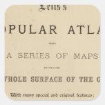 El atlas popular de Letts de la página de título Pegatina Cuadrada