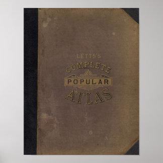 El atlas popular de Letts Poster