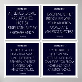 El atletismo cita la actitud para los atletas póster