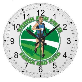 El atletismo de las mujeres reloj de pared