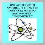 el átomo perdió un chiste de la física del electró póster
