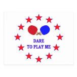 El atrevimiento me juega ping-pong postal