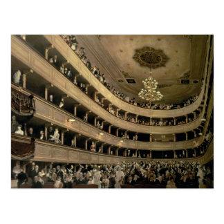 El auditorio del viejo teatro del castillo, 1888 postales