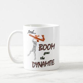 El auge va la dinamita taza básica blanca