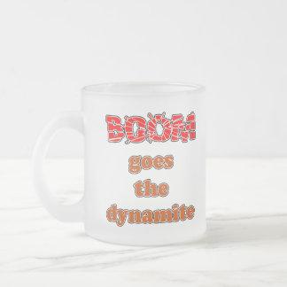 El auge va la dinamita taza de café esmerilada