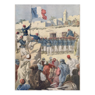 El aumento de la bandera francesa en Tombuctú Tarjetas Postales