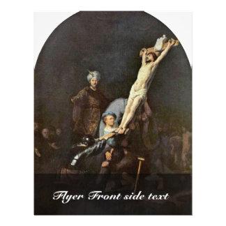 El aumento de la cruz. Por Rembrandt Van Rijn Tarjeton