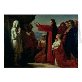 El aumento de Lazarus 1857 Felicitación