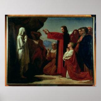 El aumento de Lazarus, 1857 Póster