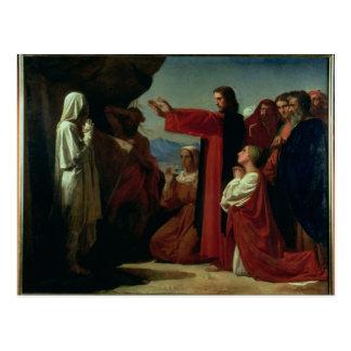 El aumento de Lazarus, 1857 Tarjeta Postal