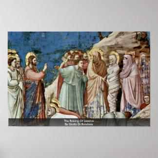 El aumento de Lazarus de Giotto Di Bondone Posters