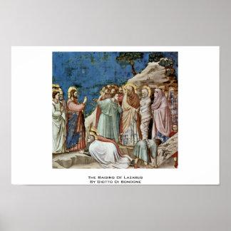 El aumento de Lazarus de Giotto Di Bondone Impresiones
