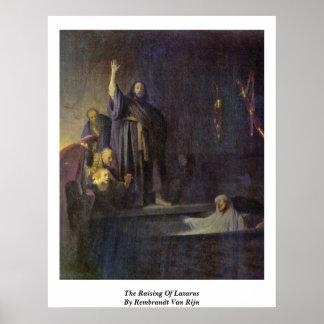 El aumento de Lazarus de Rembrandt Van Rijn Impresiones